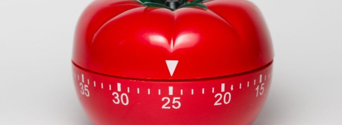 Timer that looks like a tomato in reference to the Pomodoro Technique